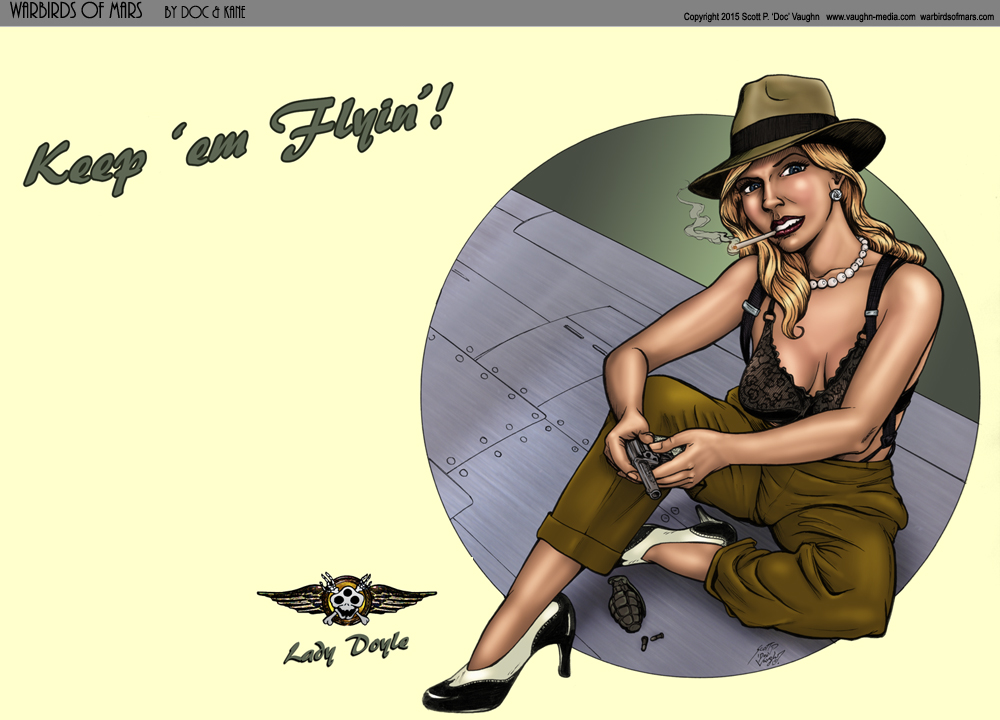 Lady Doyle Pin-up